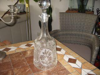 Antike Karaffe - Bleikristall - Klar U.  Mattiert Bild