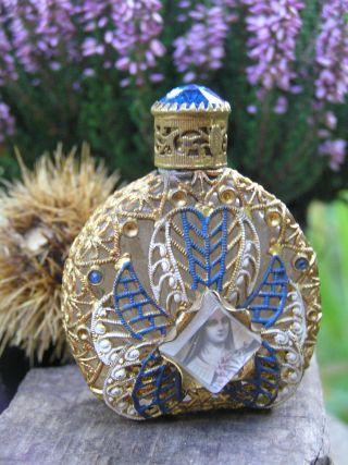 Alter Parfum Flakon Glas Metall Klosterfrau Nonne Bild Sammler Zierobjekt Böhmen Bild
