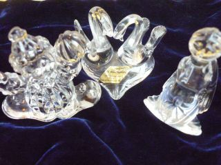 3 X B.  Koscianski Kristallglas Figuren