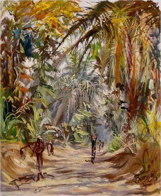 Afrikanische Malerei Congo Kongo Signiert GemÄlde Bild