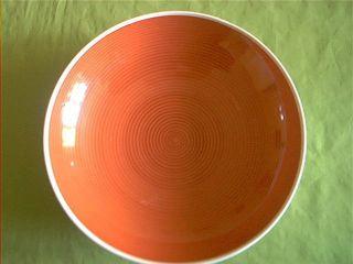 Kpm Berlin Schale Mit Orangeroten Farbstreifen Bild