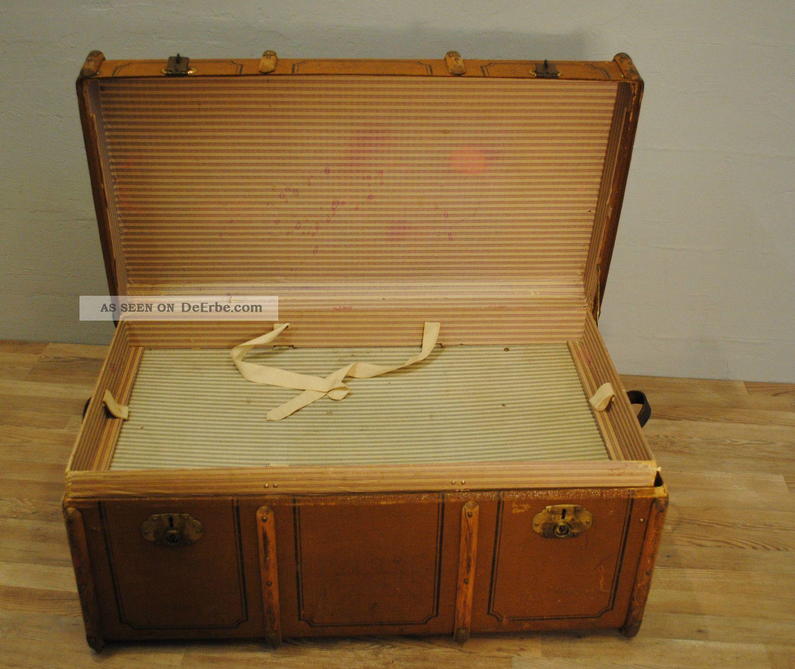bersee koffer reisekoffer um 1900 l nge 100 cm tiefe 58 cm h he 50 cm. Black Bedroom Furniture Sets. Home Design Ideas