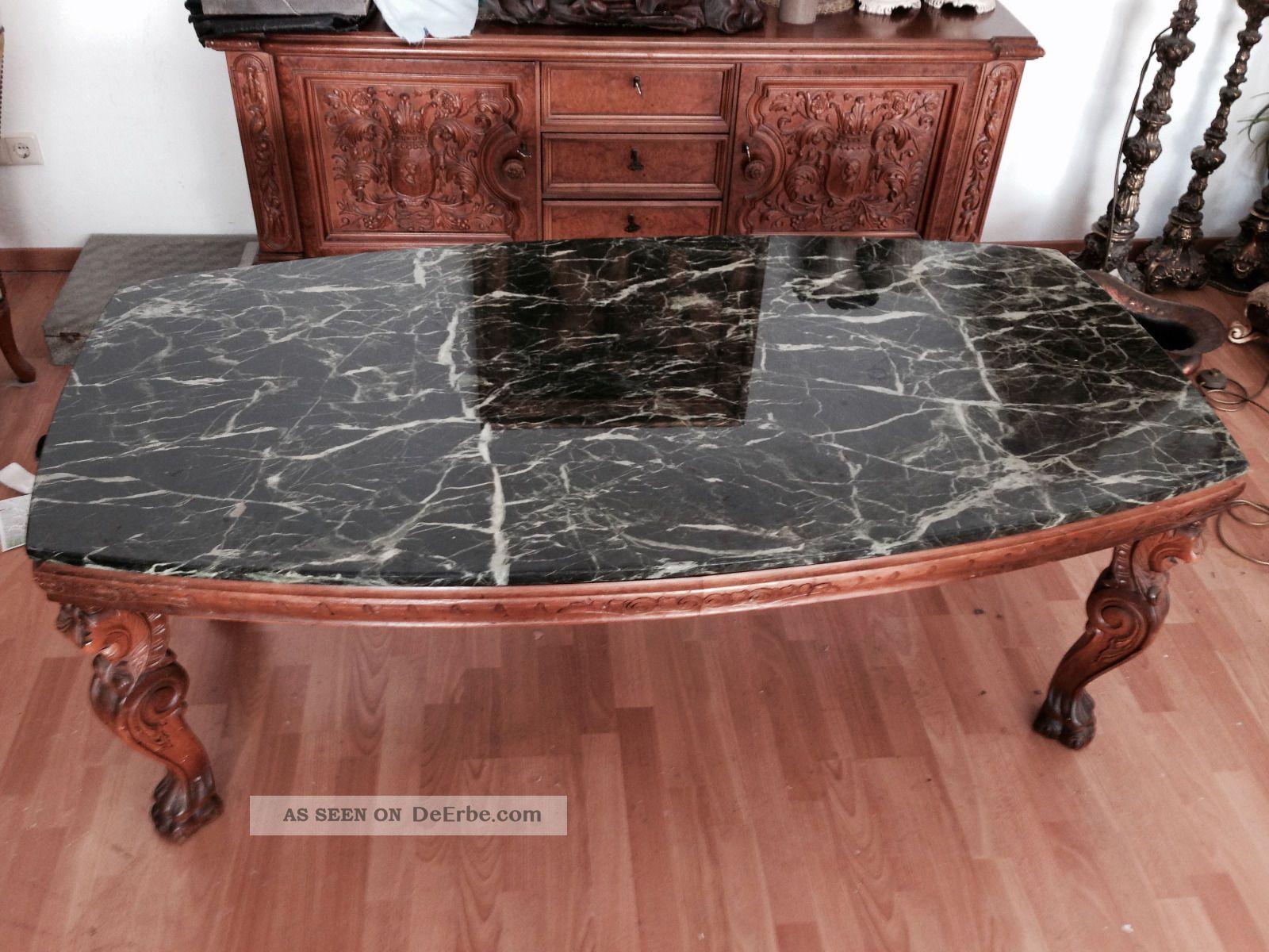 Wohnzimmertisch antik mit marmorplatte for Wohnzimmertisch marmorplatte