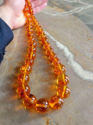Xxl Bernsteinkette Naturbernstein Cognac 178 Gramm Real Amber Necklace Bild