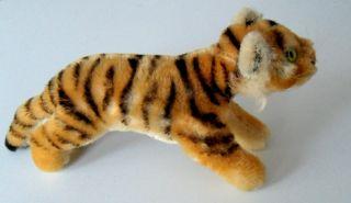 Sehr Alter Steiff Tiger 20cm Ohne Knopf,  Fahne Sehr Gut Erhalten Bild