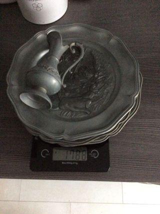 Zinnschrott Engelszinn 1,  7 Kg Zinn Konvolut Sammlung Teller Bild