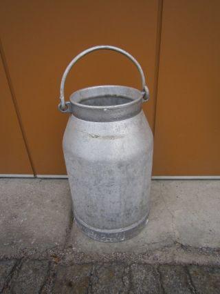 Schöne Alte Aluminium - Milchkanne 20l Schönes Dekostück Und Gebrauchsstück Bild