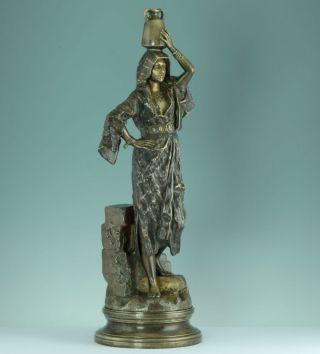 Gaston Veuvenot Leroux Orientale Schönheit 1890 Bronze Skulptur Sculpture Statue Bild