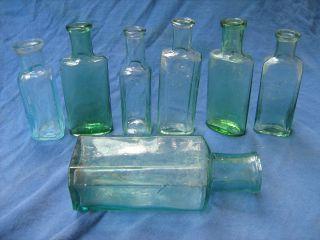 7 Alte Flaschen Kolonialwarenladen Um 1900 Bild