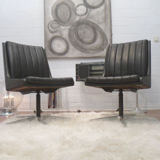 60er Vintage Design Bürostühle.  Stoll - Giroflex Bild