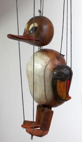 Schöne Große Marionette Aus Holz - Herr Enterich - Deko Ente - Top Bild