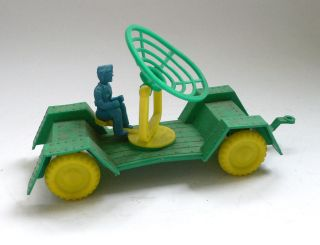 Vintage Tim Mee Toys Radar Cart With Figure 1960 ' S Germany Bild