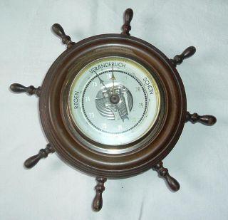 Altes Barometer/thermometer/hygrometer Maritimes Barometer Steuerrad Segler Bild