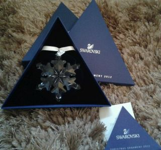 ☆ Jahresstern Swarovski 2012 Christmas Ornament,  ☆ Bild