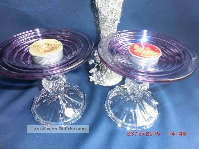 Teelichthalter auf fuß kerzenständer glas bleikristall
