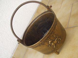Antiker Originaler Sehr Schwerer Dreifuß - Bronze - Kessel In Perfektem Bild
