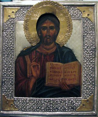 Pantokrator Orthodox Icon Icona Ikon иконка Russische Ikone Hendgemalt Temper Bild