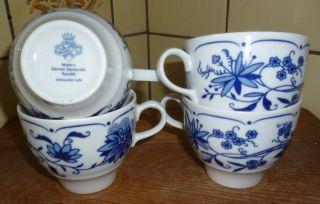 4) Henneberg Ilmenau Zwiebelmuster 1 Tadellose Kaffeetasse 4x Vorhanden Bild
