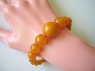 Antikes Echt Bakelit Kugel Armband Faux Amber Bakelite Balls Bracelet 13,  5 G Bild