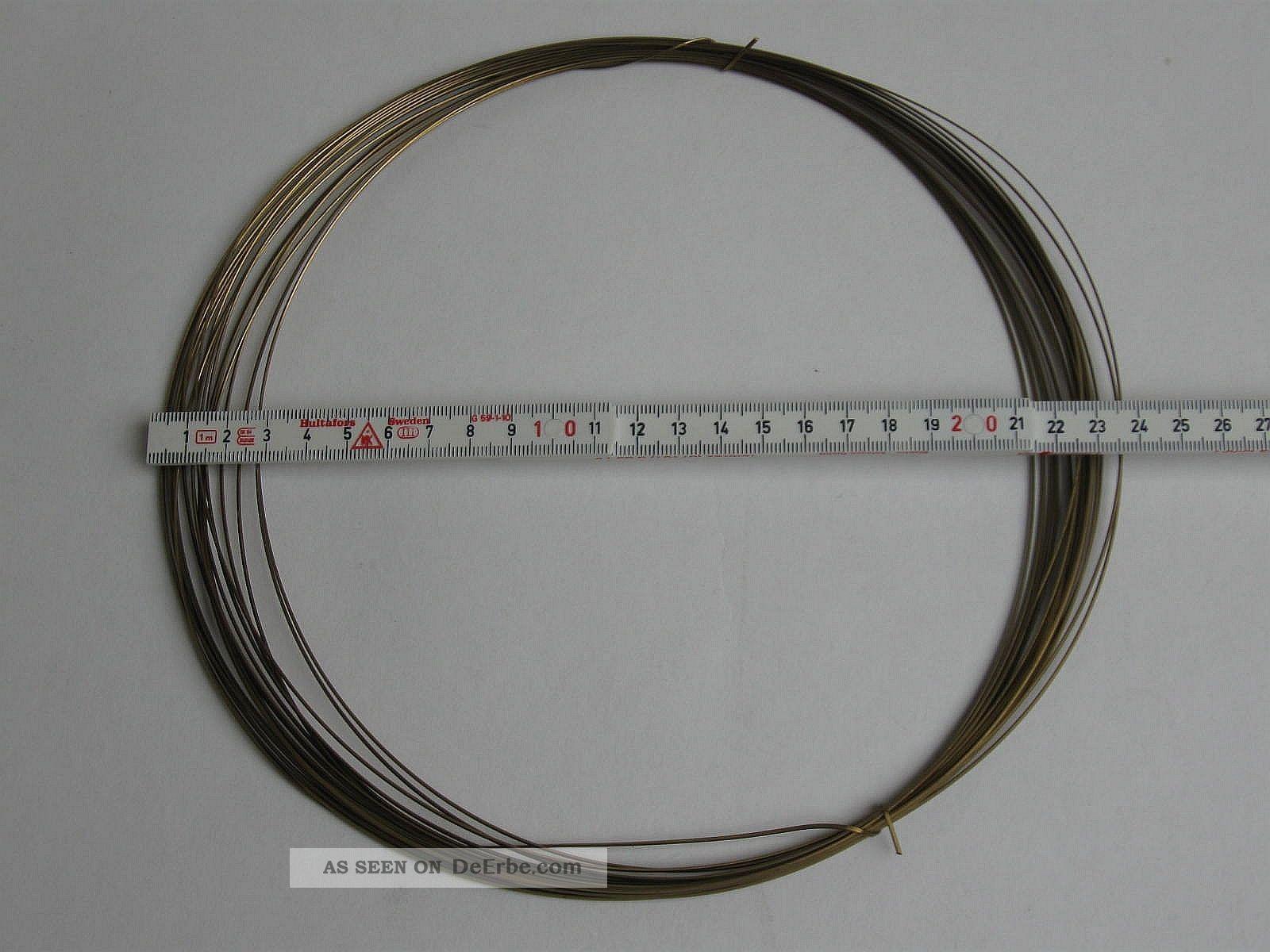 Messingdraht 10 Meter Rechteckig Federhart 0, 65x1, 15mm Messing Ms ...