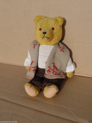 Antiker Teddybär Mit Schöner Brumm Stimme Vermutlich Ddr Produktion (sonneberg?) Bild