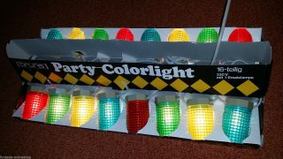 70 Er Jahre - Bruns Party - Colorlight Lichterkette - 16 Lampen Bunt Partylichter Bild