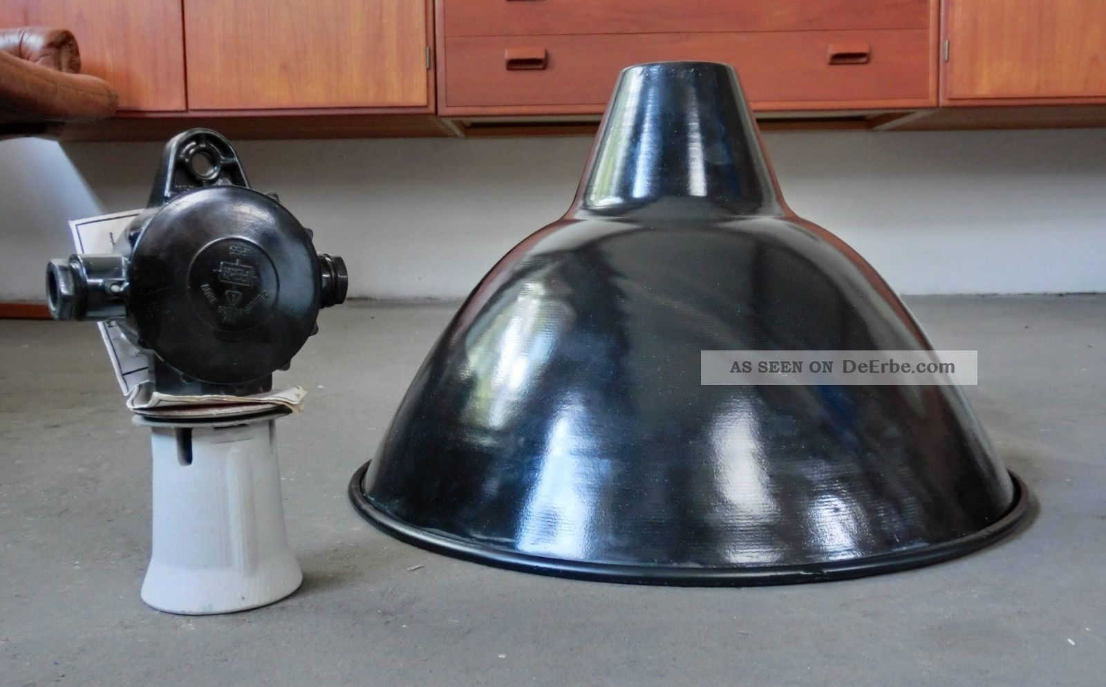 Industrielampe Fabriklampe Bauhaus 43 ∅ Lampe Emaille True