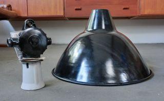 Industrielampe Fabriklampe Bauhaus 43 ∅ Lampe Emaille True Vintage Deckenleuchte Bild