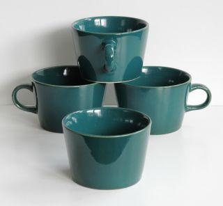 Arabia Finland Kilta Geschirr 3x Kaffeetasse U.  1 Zuckertopf Grün Kaj Franck Bild