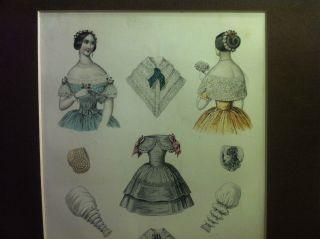 Seltenes Paar Biedermeier Modestiche Signiert Paris Datiert 20 Juli 1846 Rar Bild