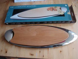 Lachsplatte Fischplatte Wmf Cromargan Holz Serie Sculptura Ovp Unbenutzt Bild