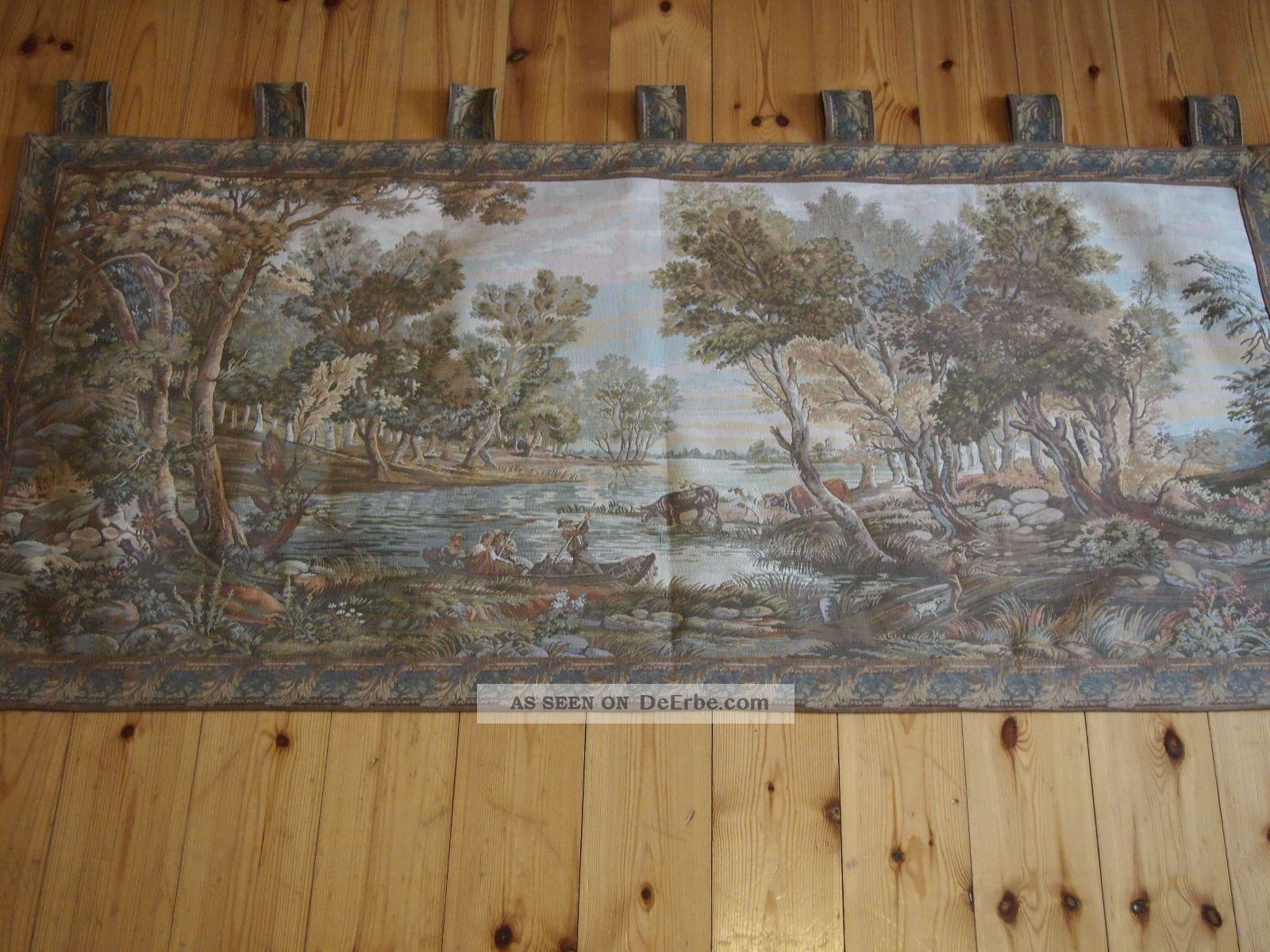 Wandteppich Gobelin 160 Cm Breit,  50er Jahre,  Landidylle,  Vintage,  60er Jahre 1950-1959 Bild