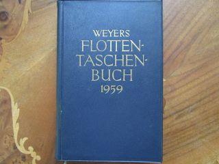 Weyers Flottentaschenbuch 1959 Bild