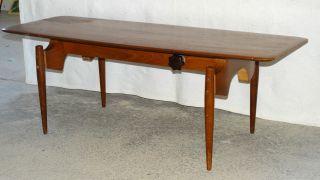 Couchtisch Teak ? Tisch Coffee Table Holztisch Sofatisch 50 - 60 Höheverstellbar Bild
