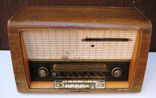 Loewe Opta Luna Box 2742w Röhrenradio Mit Plattenspieler,  Sehr Selten Bild