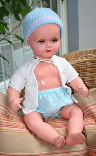 Alte Puppe Mmm - Marke,  Kleiner Junge,  Babypuppe Bild