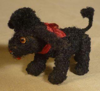 Schuco Arche Noah Tier Pudel Hund 60er Jahre Vintage Mohair Dog Poodle Figure Bild