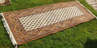 Feiner Orientteppich/läufer,  Made India,  Brauntöne,  Edles Design,  Top Qualität,  Ges. Bild