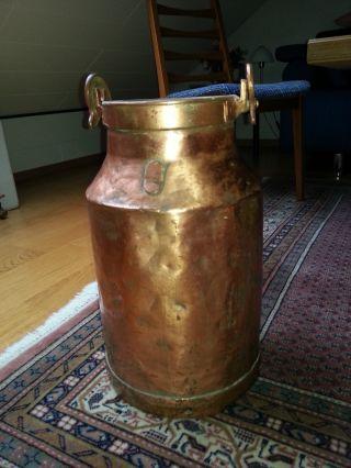 Milchkanne,  Regenschirmständer,  Kupfer,  Antik,  Aus Dem Siegerland Bild