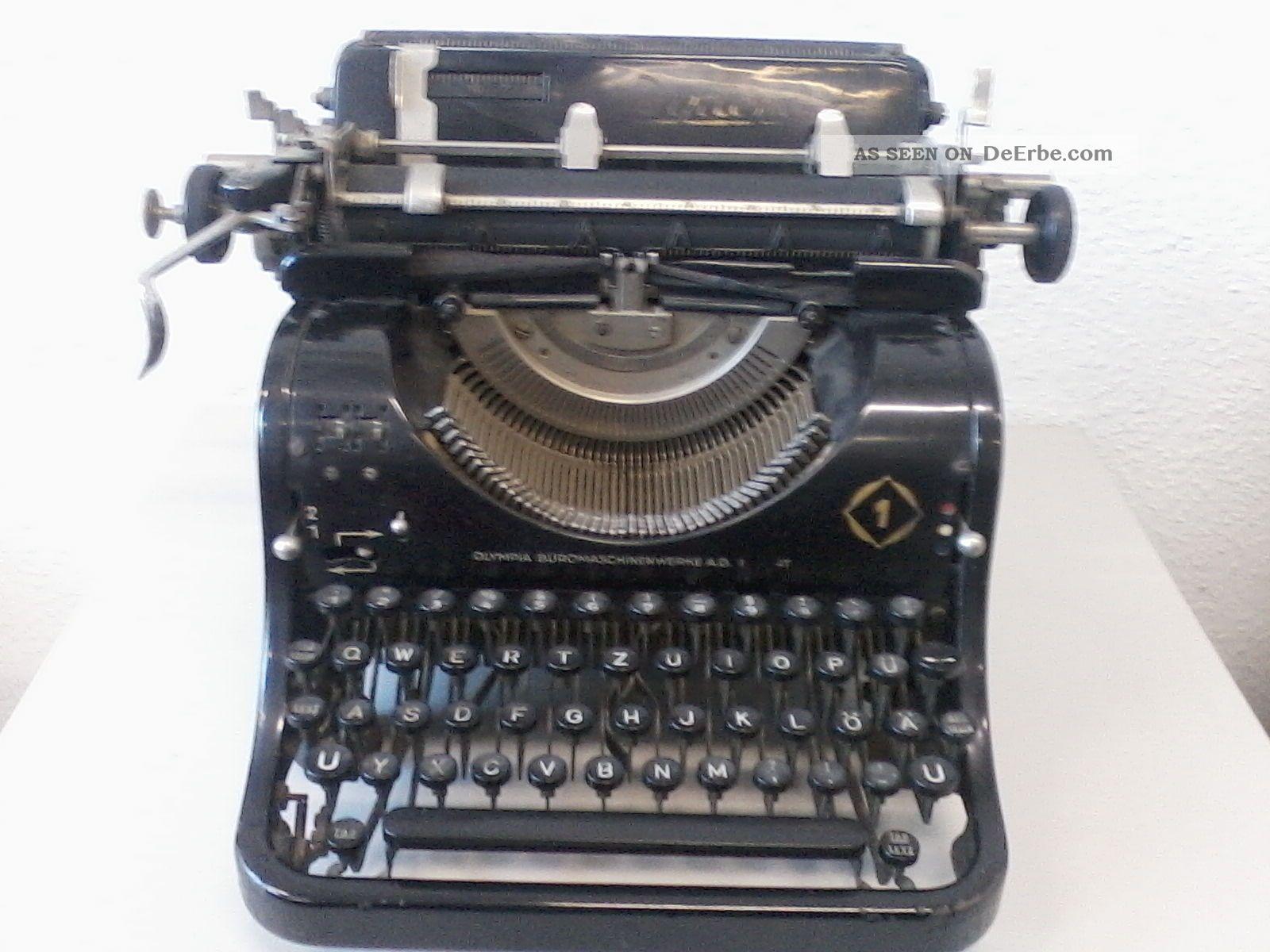 olympia diplomat mechanische schreibmaschine alt antik. Black Bedroom Furniture Sets. Home Design Ideas