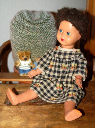 Süsses Altes Puppenmädchen - Puppe Mit Schelmenaugen - Gemarkt Ratti Bild