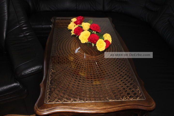 Antiker Chippendale  Stil Geflochten Couchtisch
