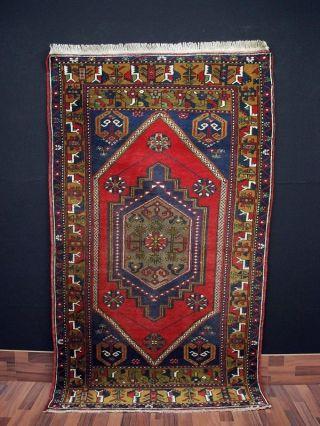Alte Anatolischer Yahyali Teppich Rugs Anatolia Ca.  210 X 112 Cm 061 Bild