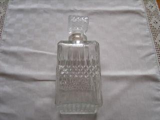 Flasche Karaffe Glas Art Deco Kristall Wein Whiskey Cognac Likör Bild