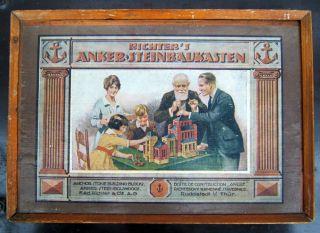 Richter Anker Steinbaukasten Nr.  10 A,  Komplett Ohne Bauvorlagenheft,  Ca.  1920. Bild