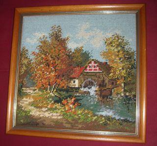 4 Jahreszeiten Gobelinbild Gobelin Herbst Mit Holzrahmen Bild