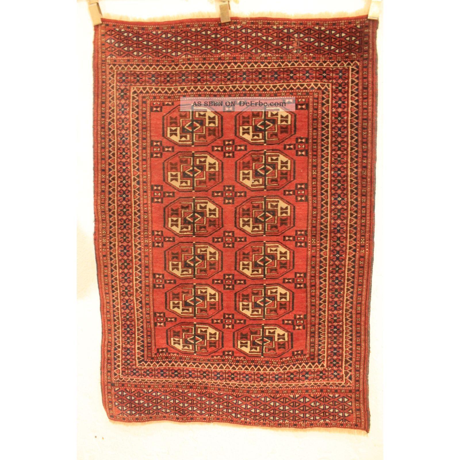 Antiker Art Deco Sammler Teppich Yomut Jomut Handmade