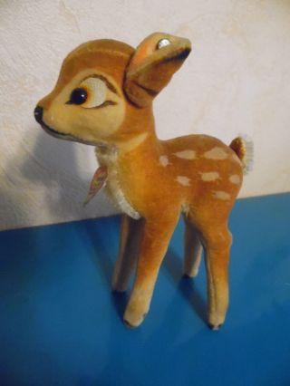 Steiff Reh Bambi - Copyr.  Walt Disney,  Vintage,  Steifftier Mit Schild Und Knopf Bild