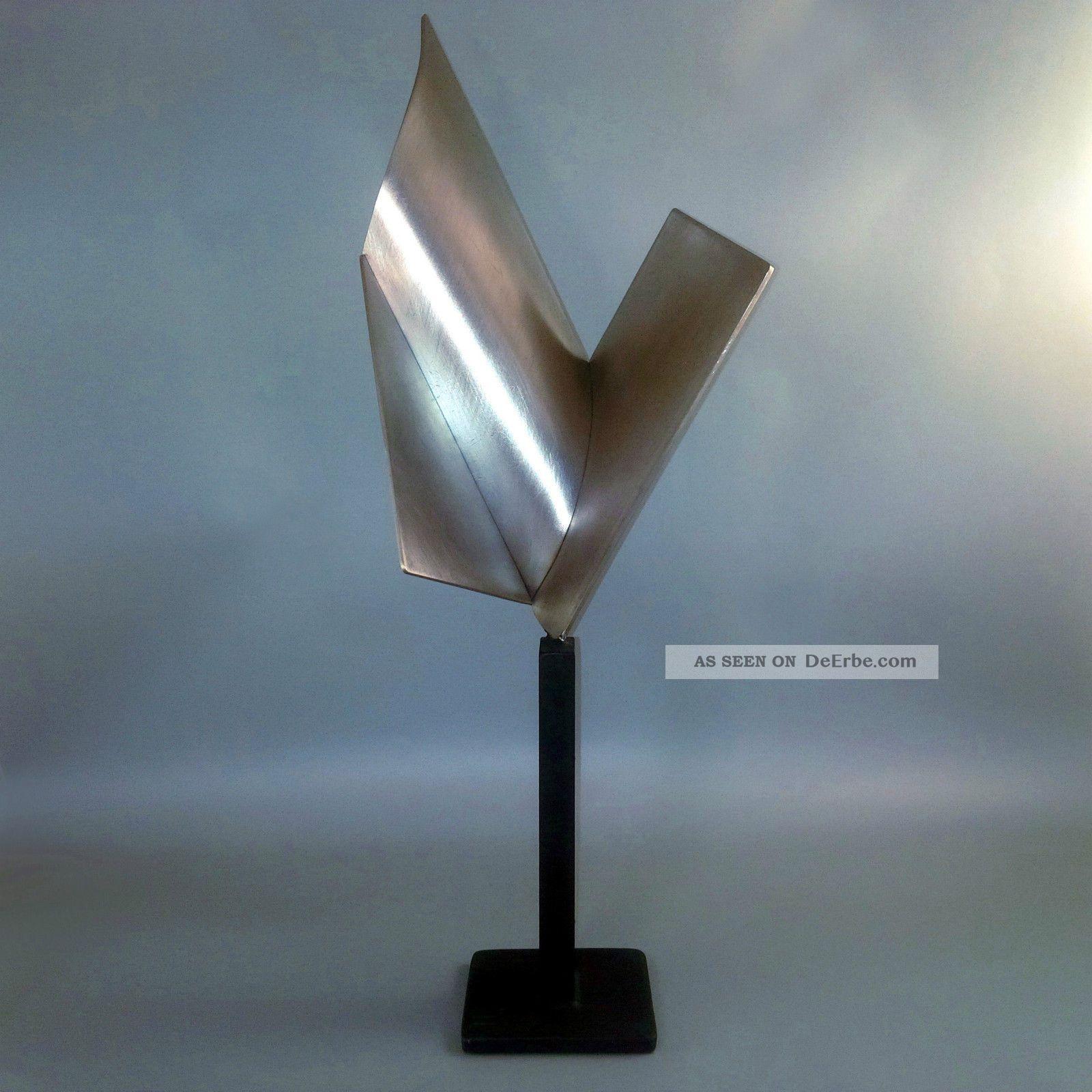 will br ll skulptur signiert stahl edelstahl figur abstrakt modern top. Black Bedroom Furniture Sets. Home Design Ideas