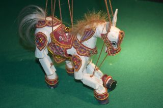 Sammler Marionette Pferd Holz Geschnitzt Puppe Art Deko 19.  Jhdt. Bild